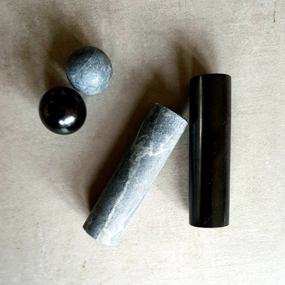 Image of SHUNGITE TALKOHLORIT Harmoniser Set
