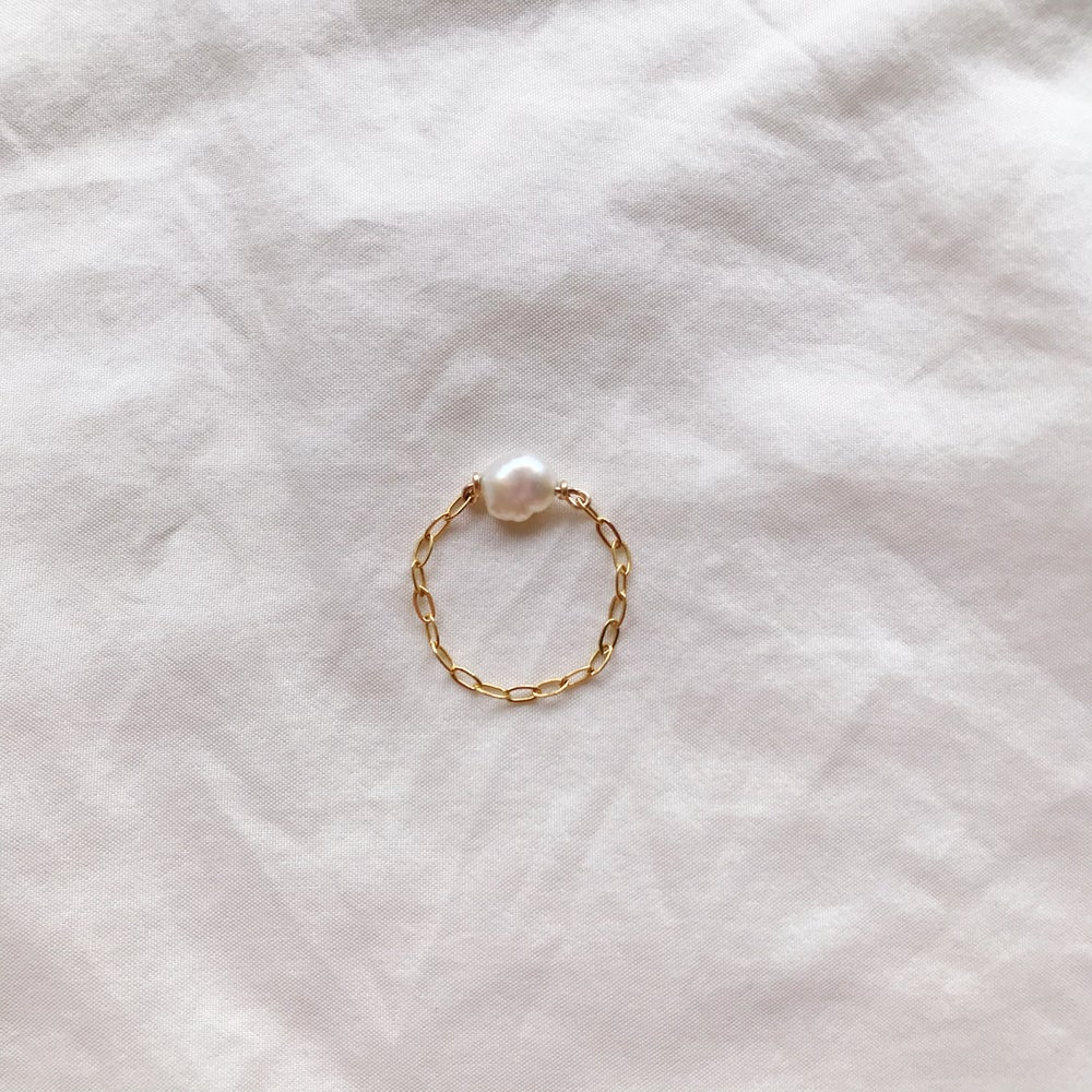 Image of BAGUE CHAINE OR NACRE