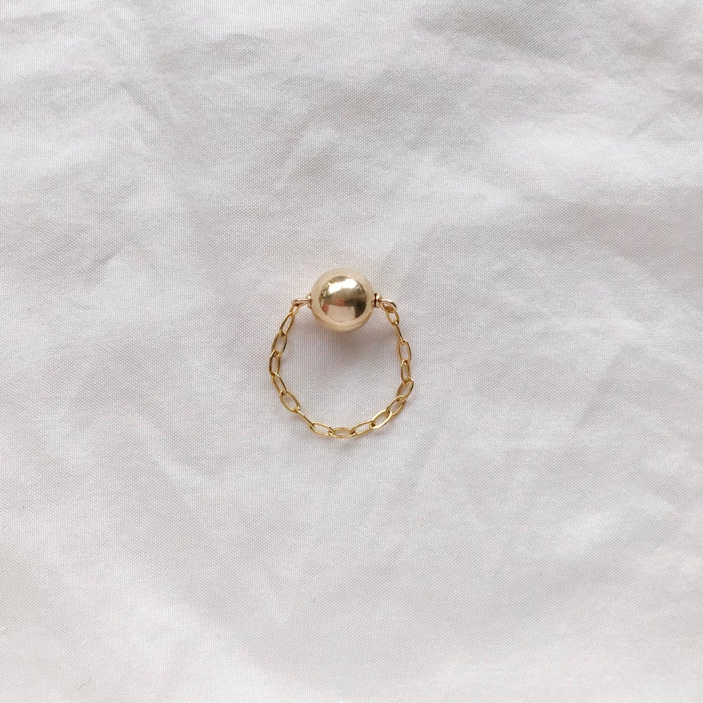 Image of BAGUE CHAINE OR SPHERE
