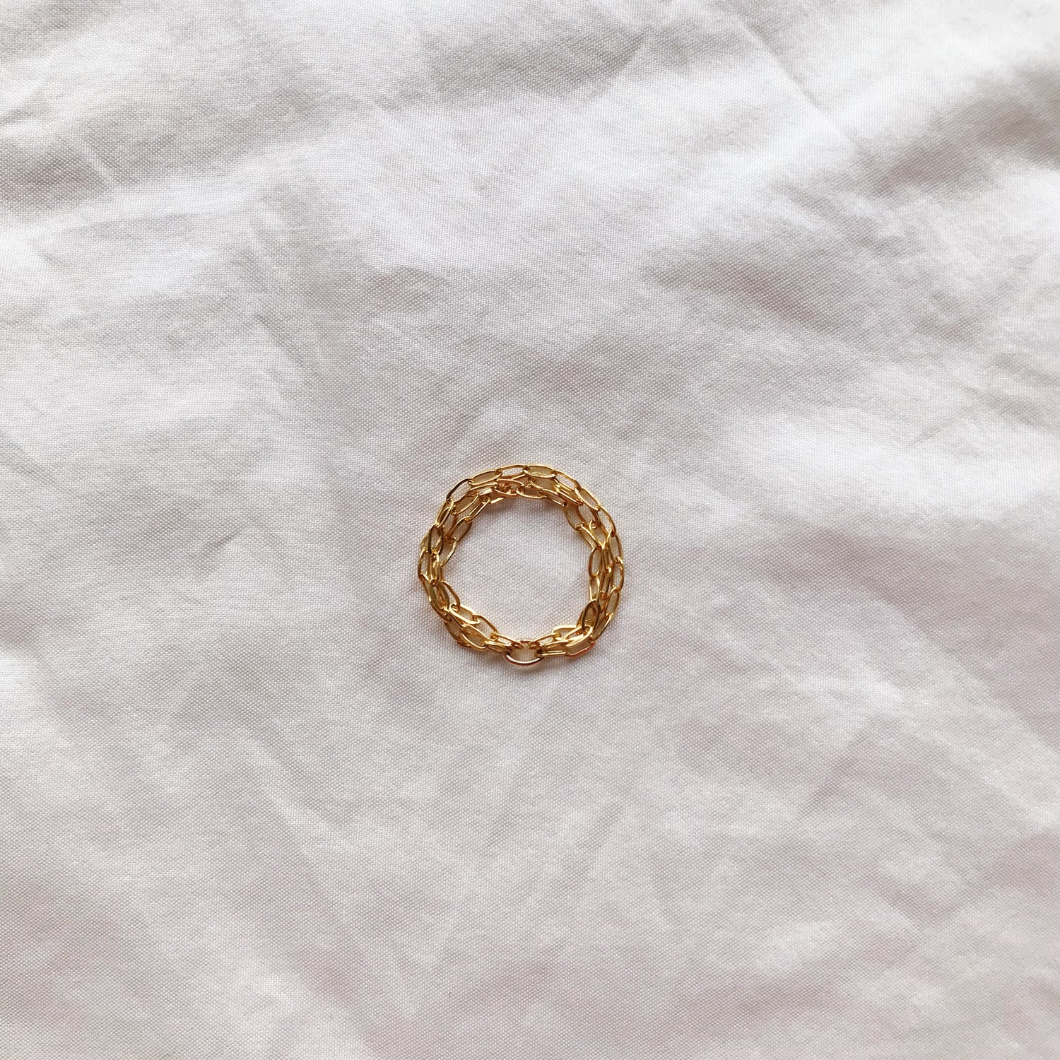 Image of BAGUE CHAINE OR TRINITÉ