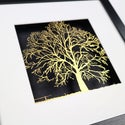 Special Edition Framed Papercut Tree - Gold & Black