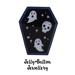 Image of Halloween Coffin Enamel Pin