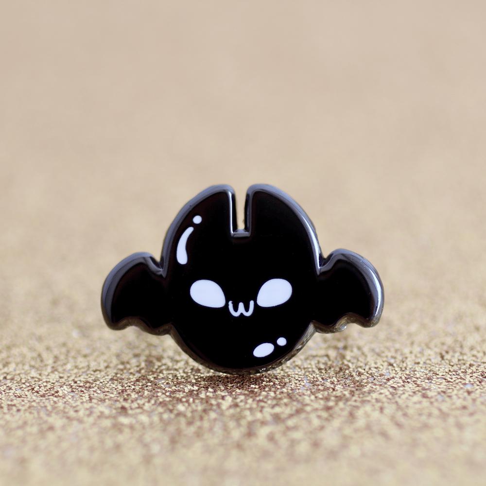 Bobattini Mini Pin - Batty for Boba