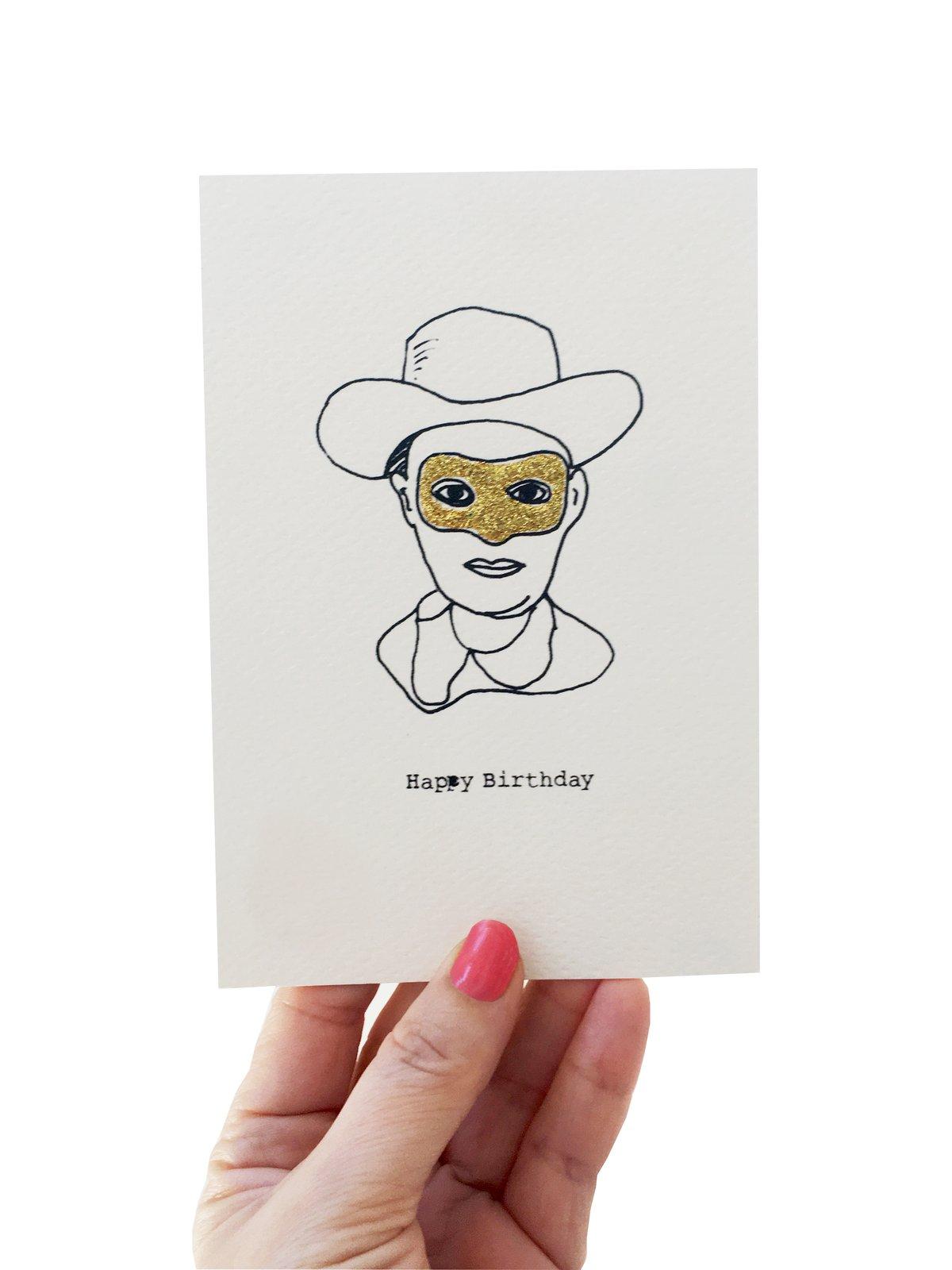 Cowboy Outline Card