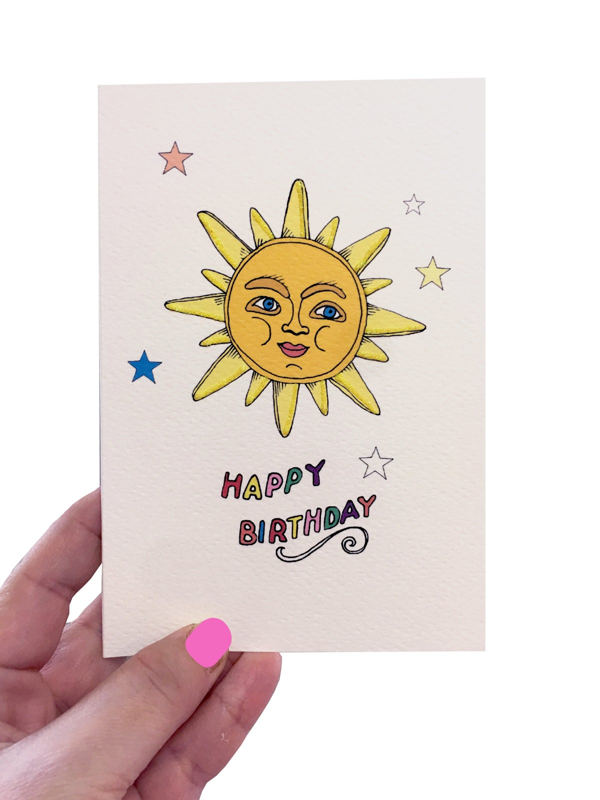 Sun Stars Birthday Card