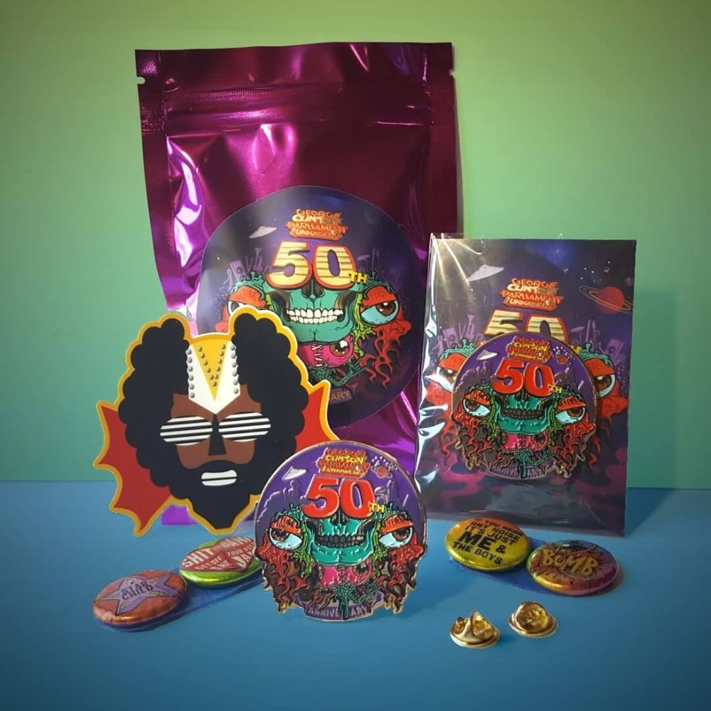 Image of 50th Anniversary Pin + Pack