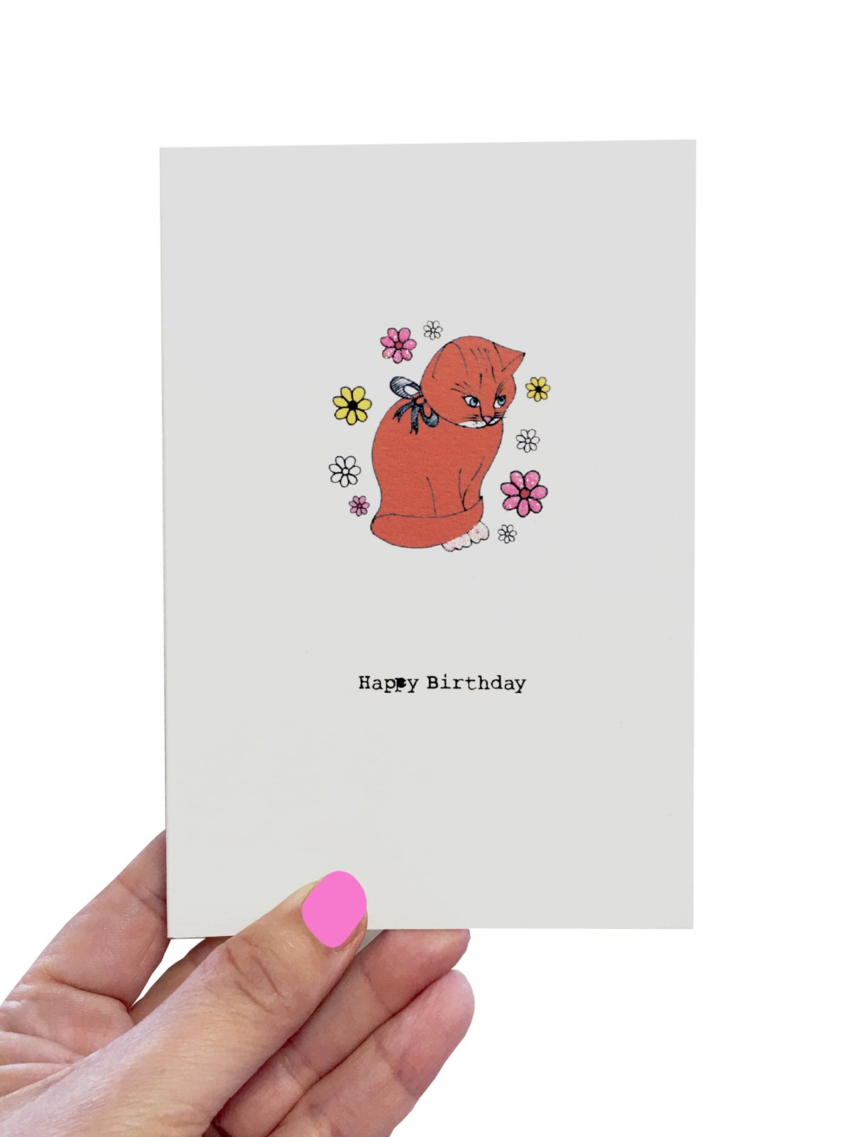 Ginger Cat Birthday Card