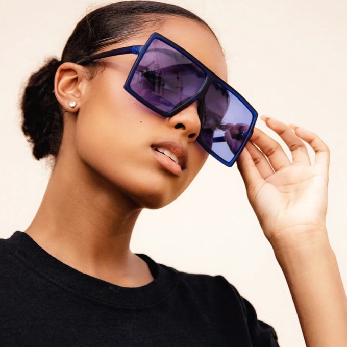 Image of Over It Sunnies (Blue)