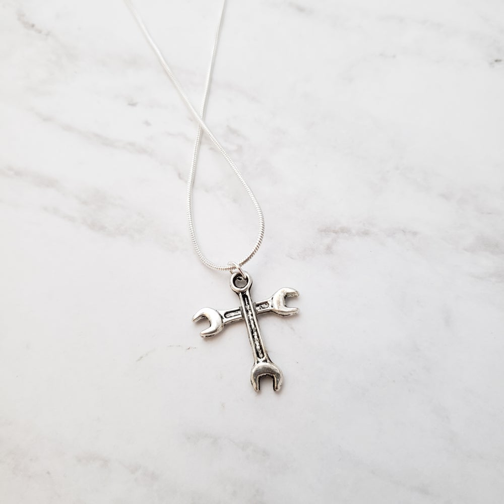 Image of Cross ➕ Wrench Necklace