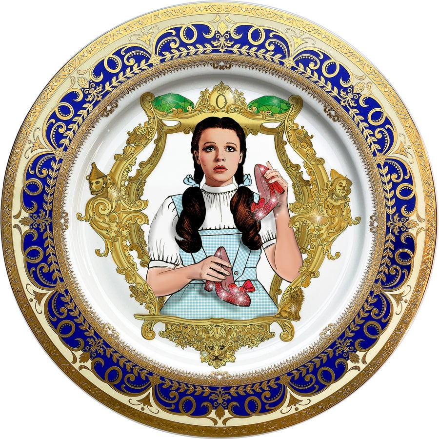 Image of The Wizard of OZ - Large Fine China Plate - #0746
