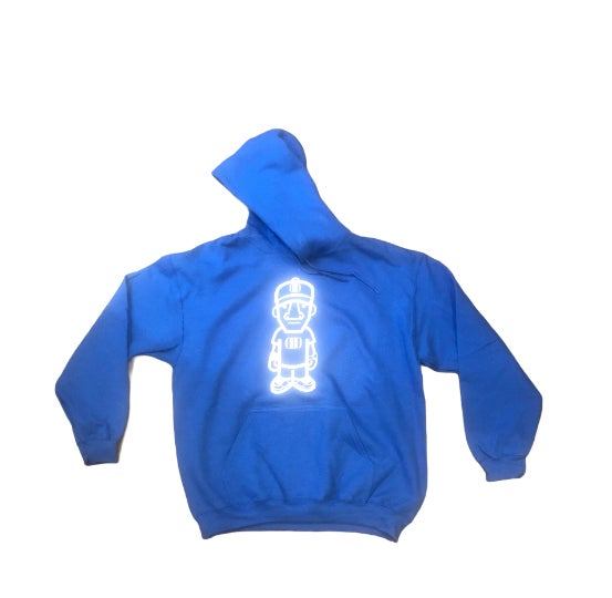 Blue/White Character Logo Hoodie