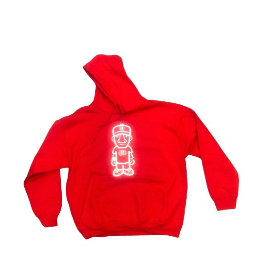 Red/White Character Logo Hoodie
