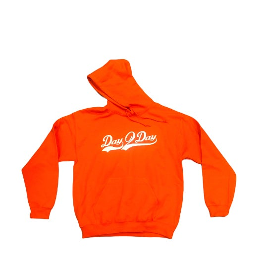 Orange/White Signature Logo Hoodie