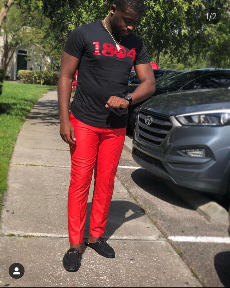 Image of BLACK SHIRT WITH RED 1804