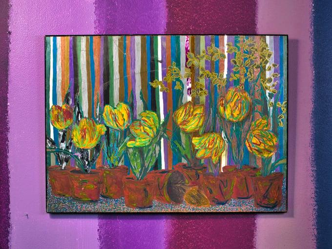 Image of fleurs aligned