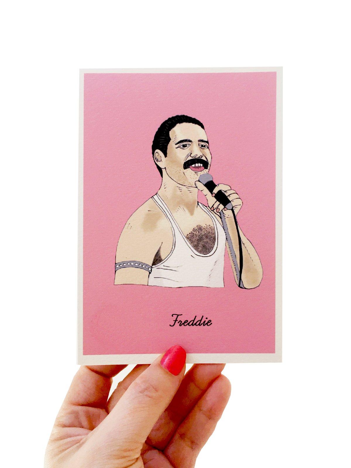 Freddie Mercury Iconic Figures Card