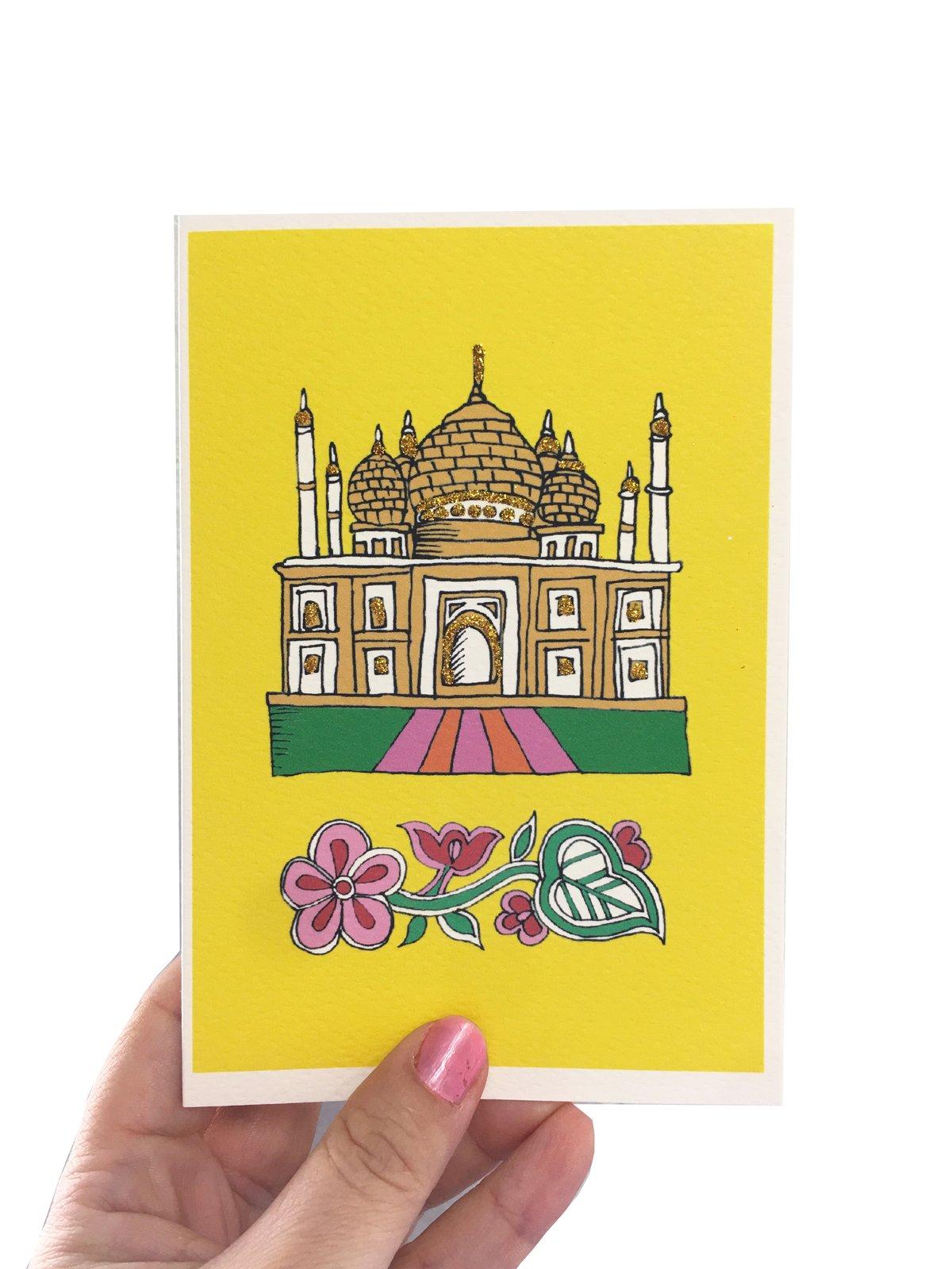Taj Mahal India Card