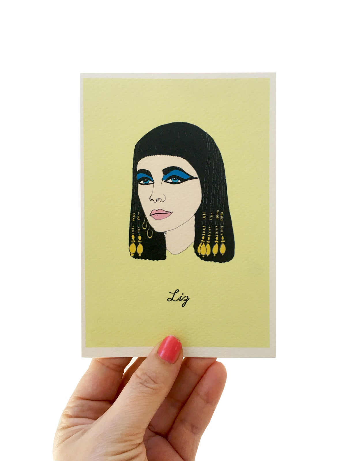 Liz Taylor Iconic Figures Card