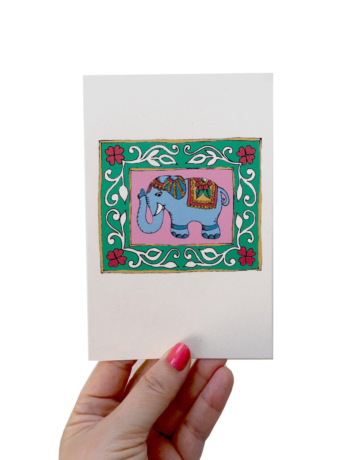Indian Elephant Card