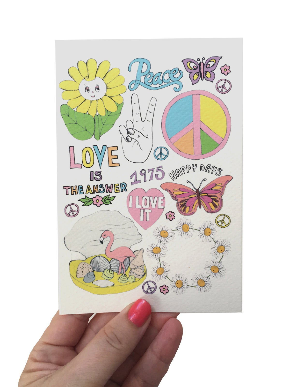 Peace & Love Flash Card