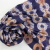 Larch Pattern Shibori - botanical silk scarf
