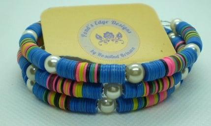 Image of Rainbow Memory Wire Bracelet