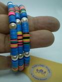 Rainbow Memory Wire Bracelet
