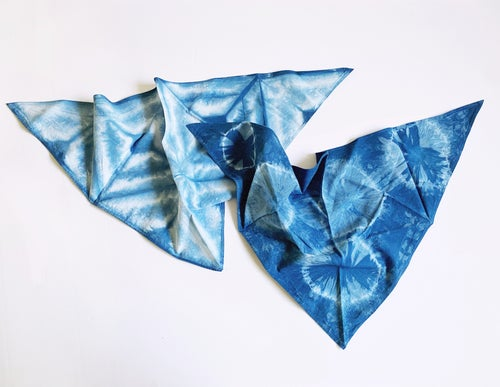 Image of Indigo Dyed Dog Bandana - Medium / Large