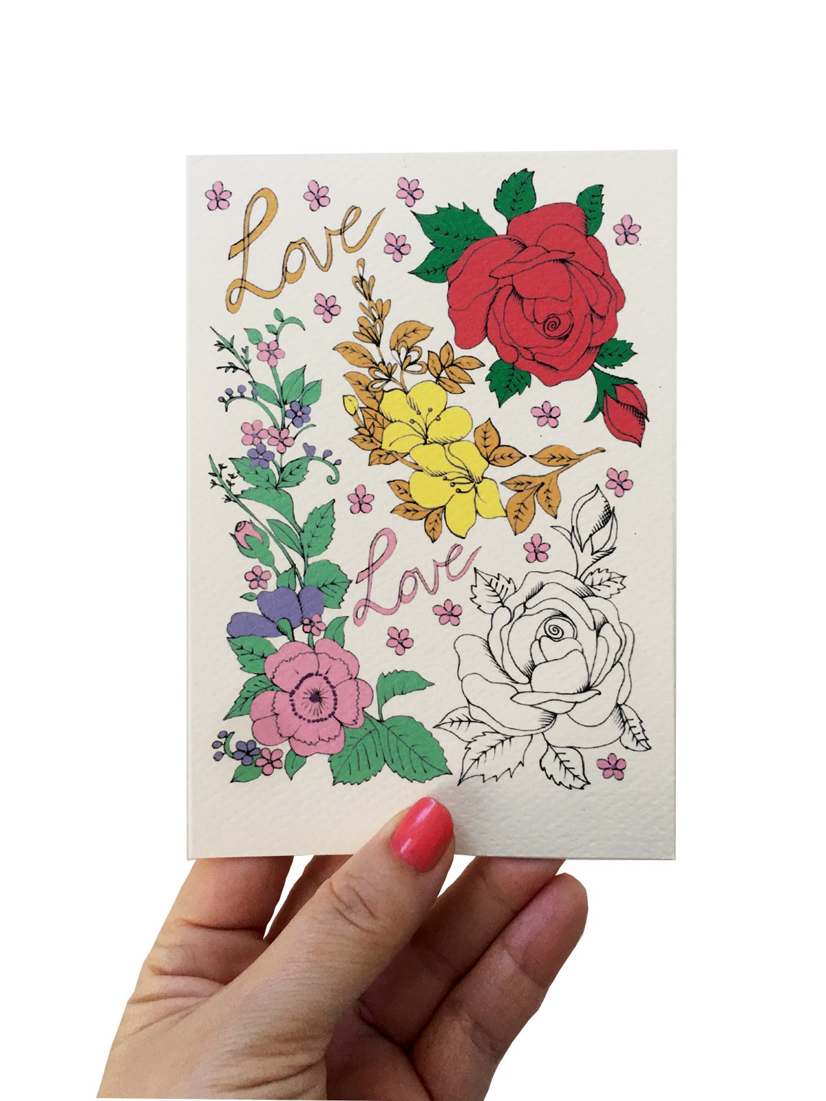 Roses Flash Card