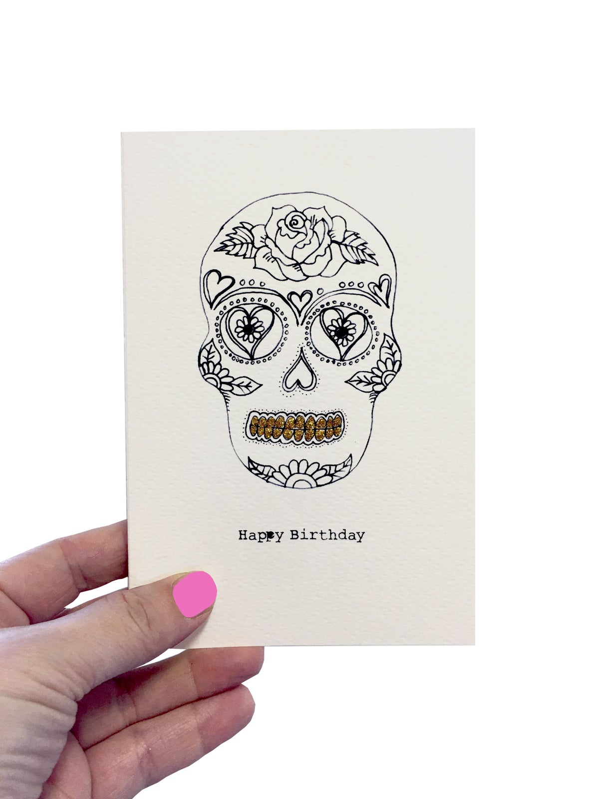 Skull Outline Card