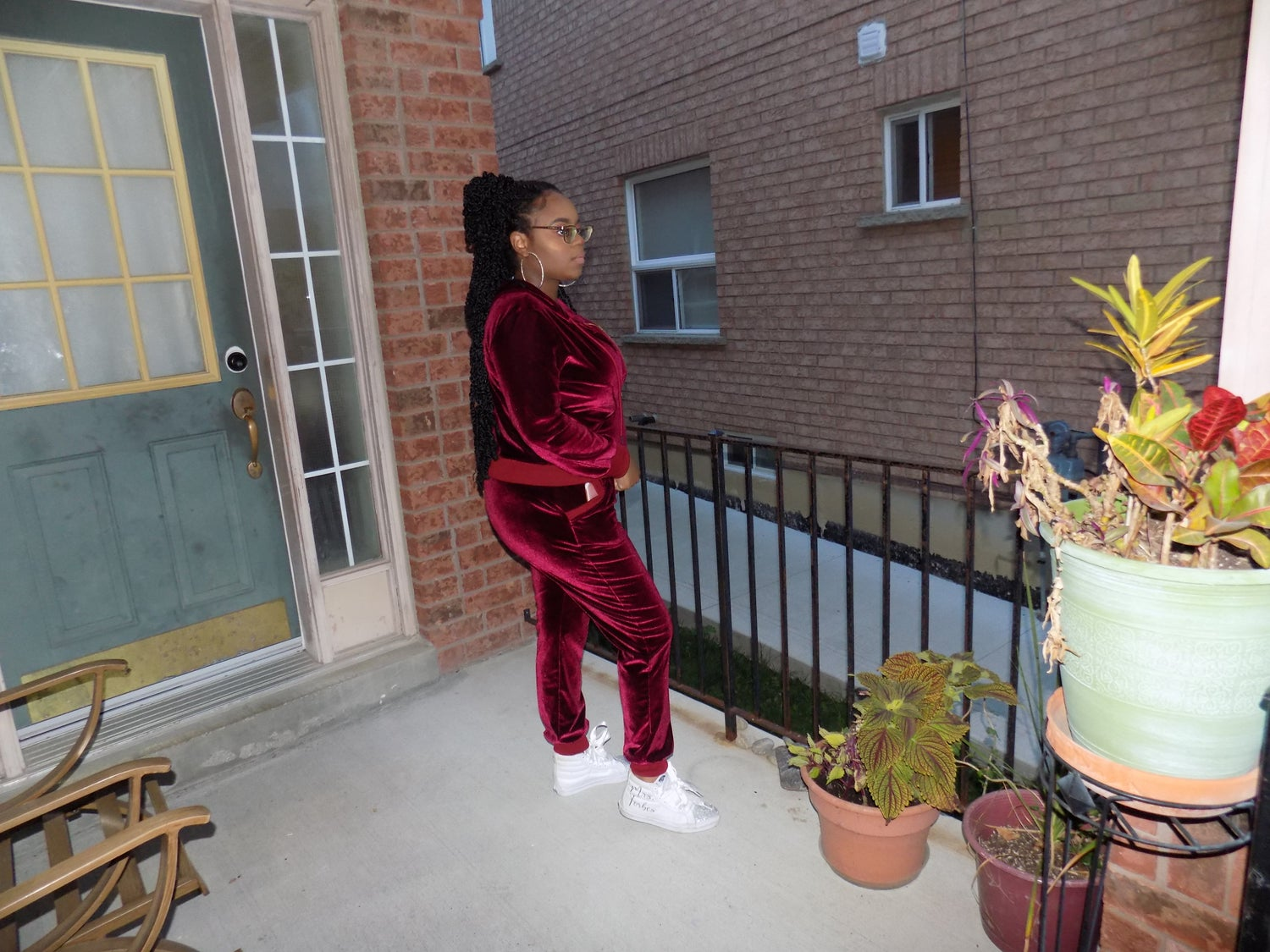 Image of Fluffy Velour Track Suit