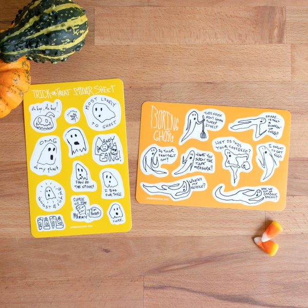 Image of Boring Ghosts and Their Friends Sticker Sheets