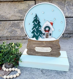 Image of Christmas Inspired 3D Shelf Sitter with Chunky Wood Base