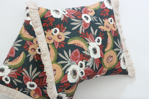 Image of Cantaloupe Blooms pillows