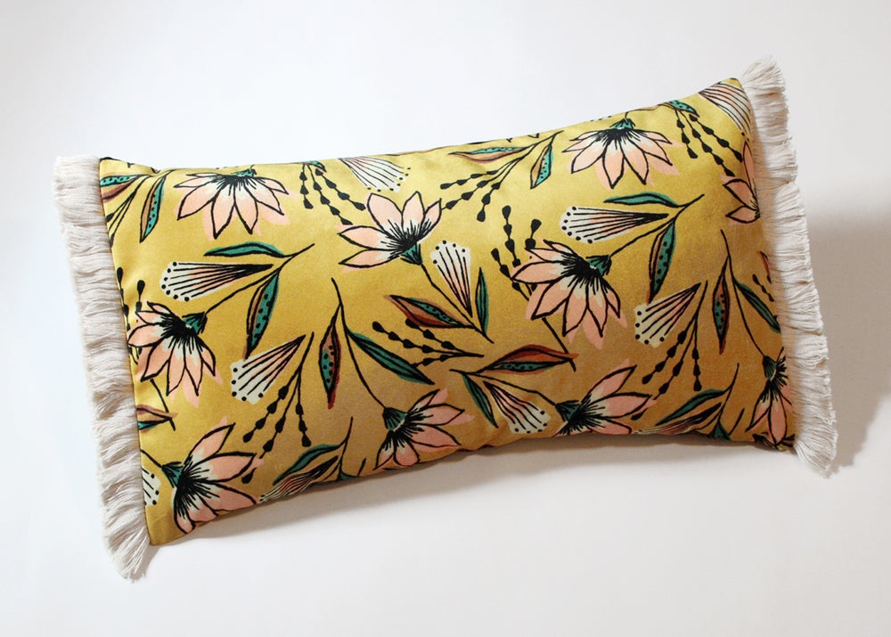 Image of Spring Lemonade Floral Pillow