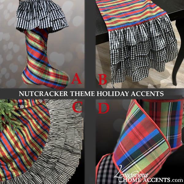 Image of Nutcracker Plaid Theme Holiday Decorations