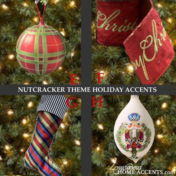 Image of Nutcracker Plaid Theme Christmas Holiday Decorations