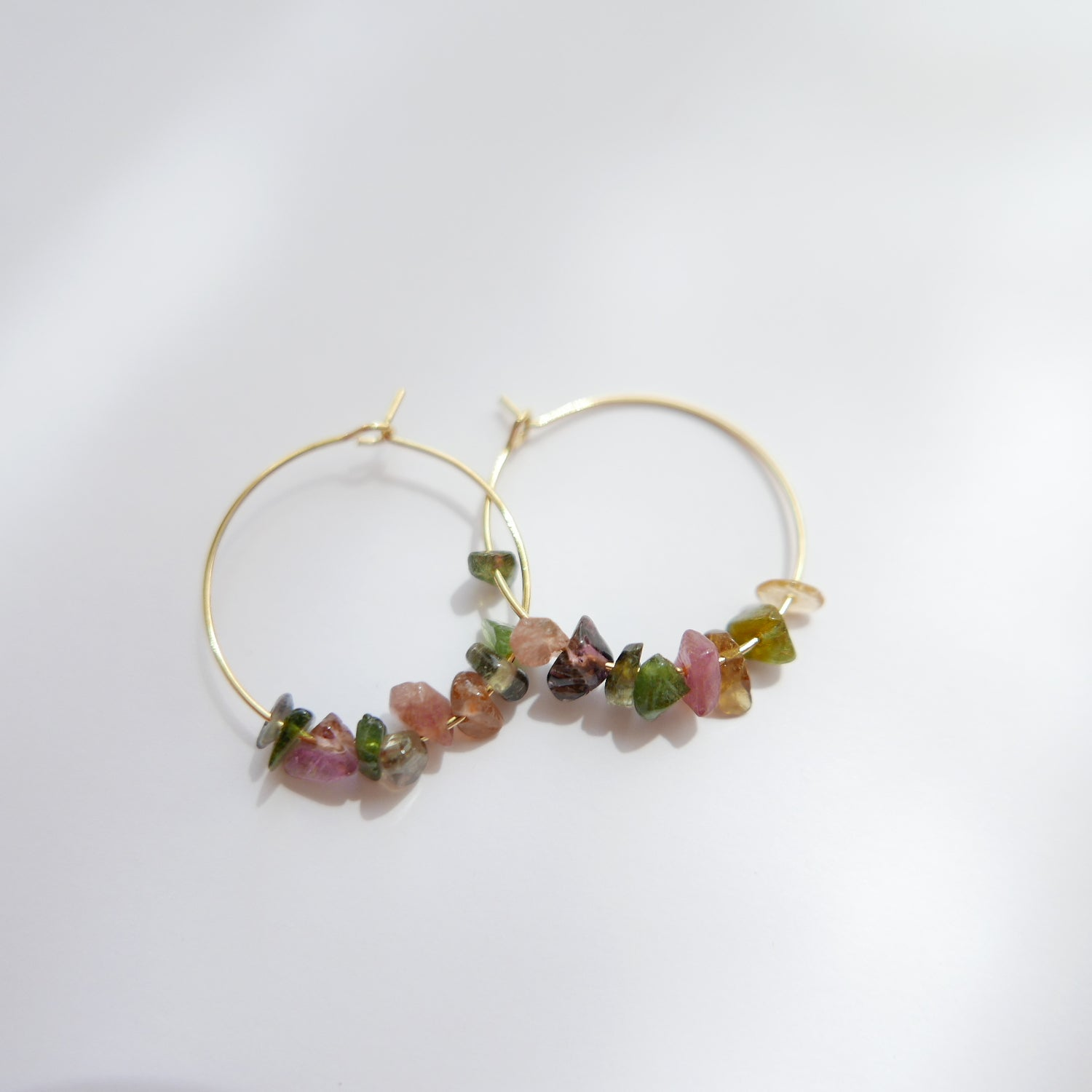 Image of Goodheart Hoops Gemstone - Tourmaline