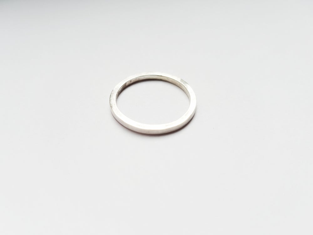 Image of Square Uniset Silver Ring
