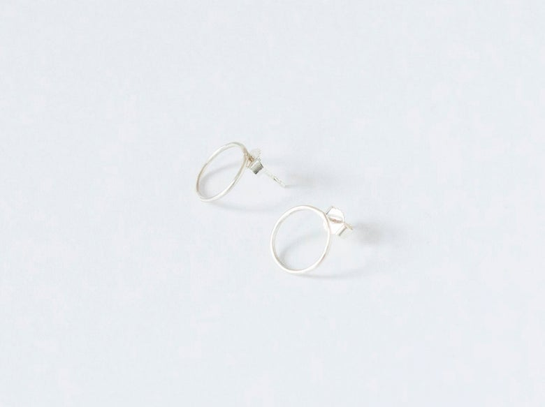 Image of New Moon Silver Earrings