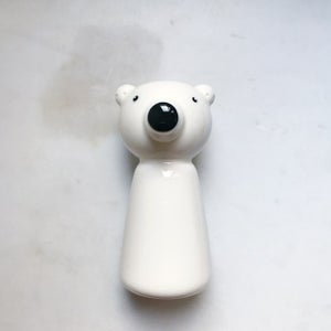 Image of Polar bear - candelstick holder