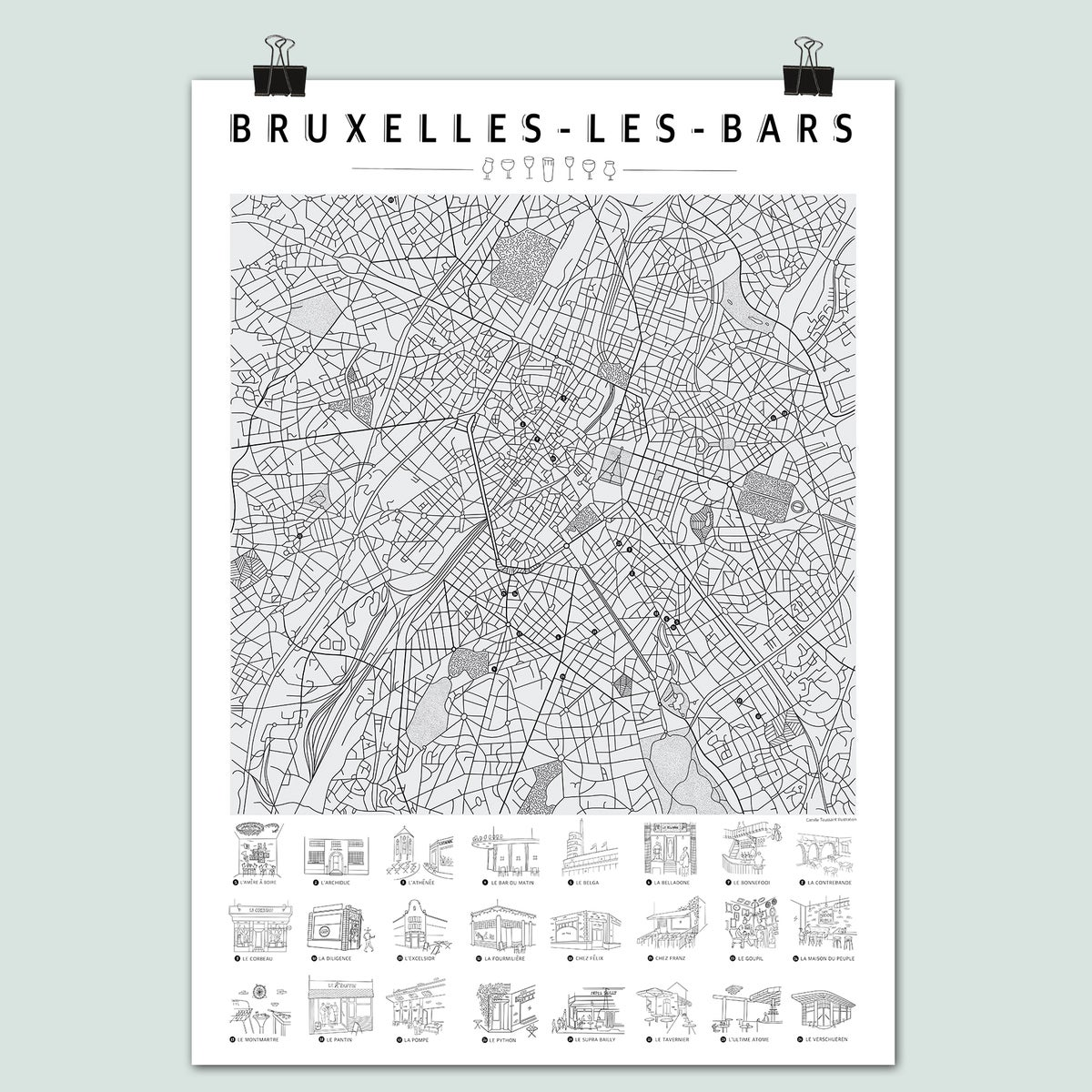 Bruxelles-les-bars - La Carte