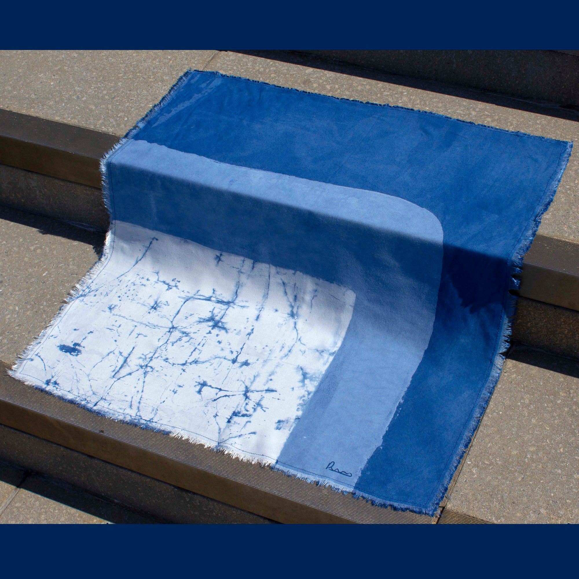 Image of Blue Series Square Scarf
