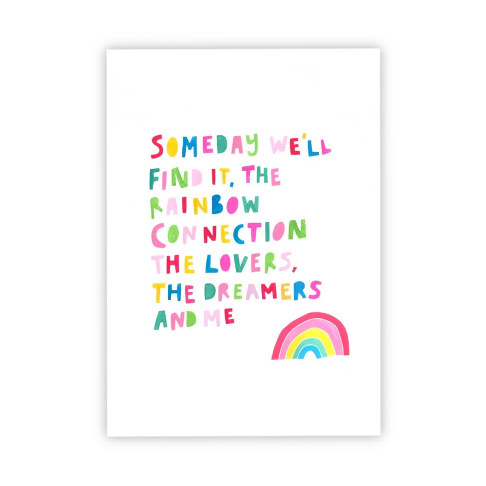 Image of Rainbow Connection print