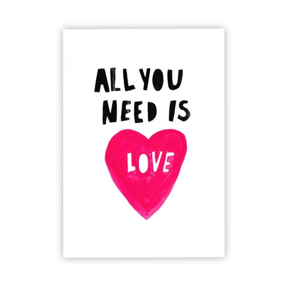 Image of All You Need Is Love print