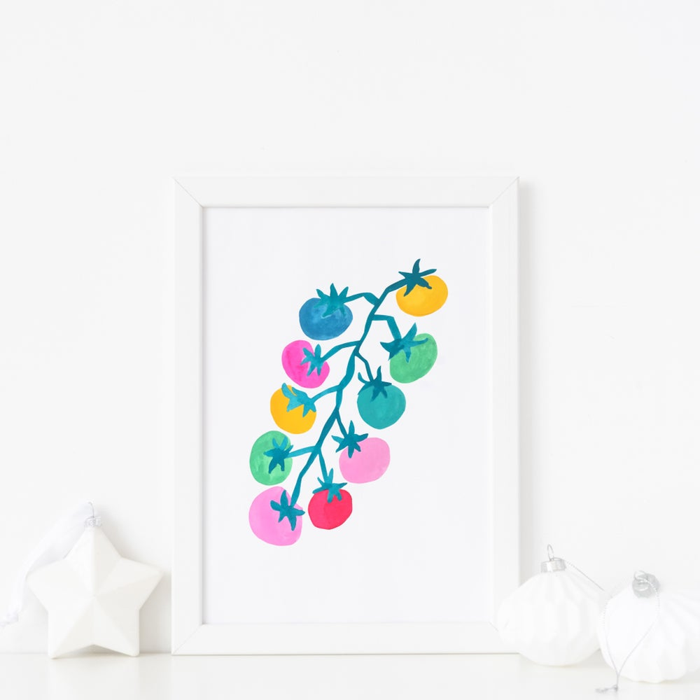 Image of Rainbow tomatoes print