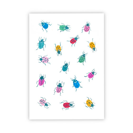 Image of Rainbow ladybirds prints