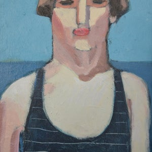 Image of Contemporary Painting, 'Amy/Camber Sands,' Poppy Ellis