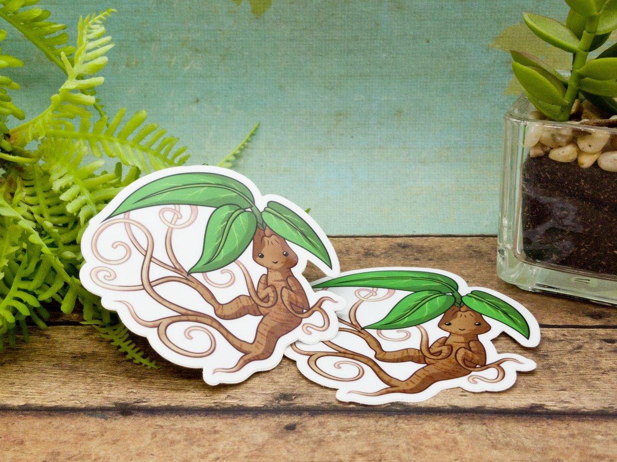 Twisting Mandrake Vinyl Sticker- 3 Inches