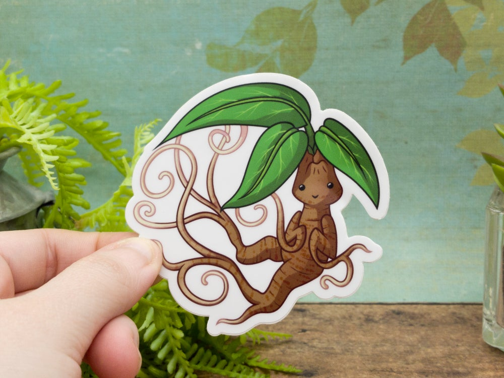 Twisting Mandrake Vinyl Sticker- 3 Inches